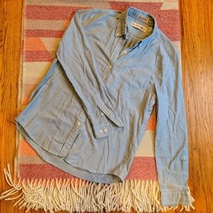 Diane Von Furstenberg Light Blue Button Down